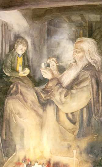 Gandalf-and-Frodo-at-Bag-End-alan-lee-18907470-605-995
