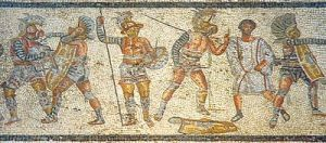 400px-Gladiators_from_the_Zliten_mosaic_3