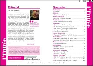 Chroniques d'Altarides 16 sommaire